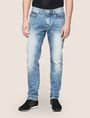 ARMANI EXCHANGE TAPERED FIT ZIP DETAIL ACID JEANS Relaxed Fit Denim Man b