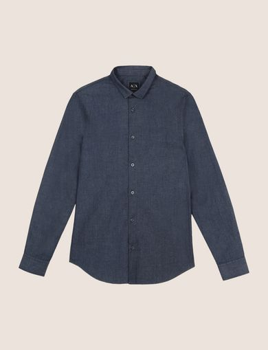 SLIM-FIT INDIGO DENIM SHIRT