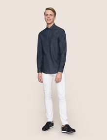 ARMANI EXCHANGE SLIM-FIT INDIGO DENIM SHIRT Long sleeve shirt Man d