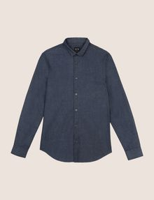 ARMANI EXCHANGE SLIM-FIT INDIGO DENIM SHIRT Long sleeve shirt Man r