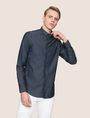 ARMANI EXCHANGE SLIM-FIT INDIGO DENIM SHIRT Long sleeve shirt Man f