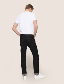 ARMANI EXCHANGE CLASSIC STRAIGHT-LEG DARK INDIGO JEANS STRAIGHT FIT JEANS Man e
