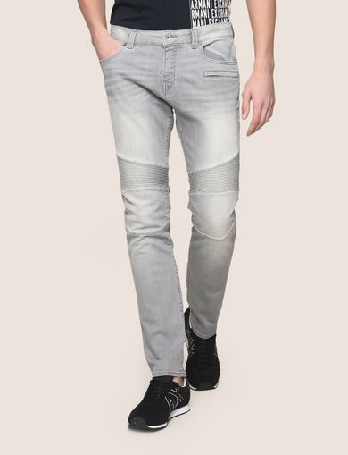 SLIM-FIT MOTO DETAIL JEANS