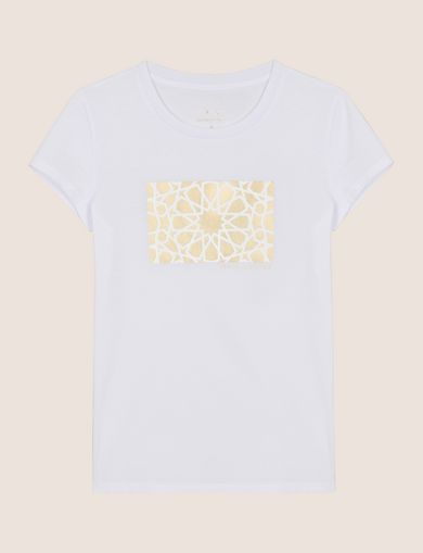 METALLIC TESSELLATION TEE