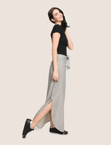 ARMANI EXCHANGE LINEN BLEND ROUND-HEM SKIRT Long Skirt Woman a