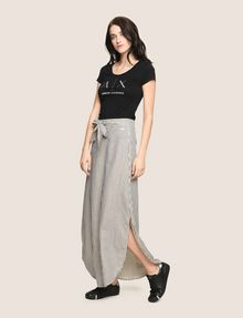 ARMANI EXCHANGE LINEN BLEND ROUND-HEM SKIRT Long Skirt Woman d