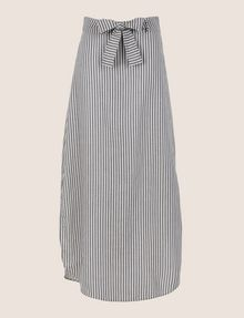 ARMANI EXCHANGE LINEN BLEND ROUND-HEM SKIRT Long Skirt Woman r