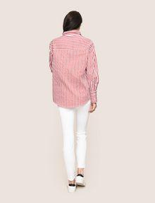 ARMANI EXCHANGE DROP-SHOULDER OVERSIZED SHIRT Striped Shirt Woman e