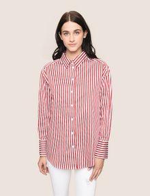 ARMANI EXCHANGE DROP-SHOULDER OVERSIZED SHIRT Striped Shirt Woman f