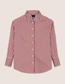 ARMANI EXCHANGE DROP-SHOULDER OVERSIZED SHIRT Striped Shirt Woman r