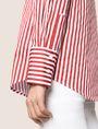 ARMANI EXCHANGE DROP-SHOULDER OVERSIZED SHIRT Striped Shirt Woman b
