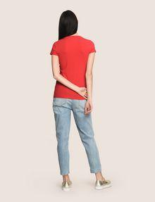 ARMANI EXCHANGE SEQUIN BOX LOGO CREW Logo T-shirt Woman e