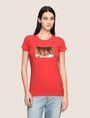 ARMANI EXCHANGE SEQUIN BOX LOGO CREW Logo T-shirt Woman f