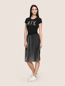 ARMANI EXCHANGE BICOLOR PLEAT MIDI SKIRT Midi Skirt Woman d