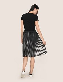 ARMANI EXCHANGE BICOLOR PLEAT MIDI SKIRT Midi Skirt Woman e