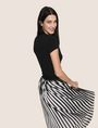 ARMANI EXCHANGE BICOLOR PLEAT MIDI SKIRT Midi Skirt Woman a