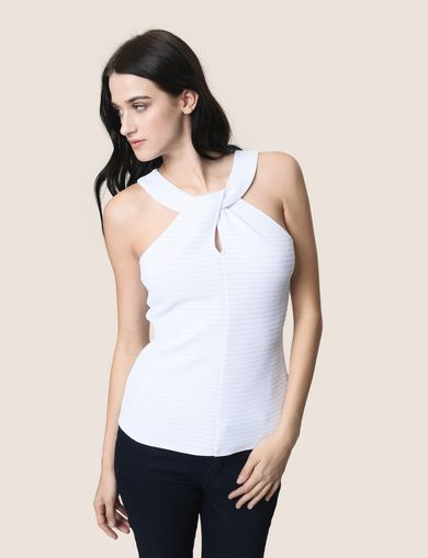 ARMANI EXCHANGE S/L Knit Top Woman F