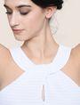 ARMANI EXCHANGE PERFORATED TWIST JACQUARD TOP S/L Knit Top Woman b