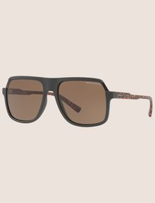 ARMANI EXCHANGE MATTE SQUARE SUNGLASSES Sunglass Man e