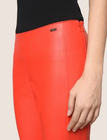 ARMANI EXCHANGE FAUX-LEATHER ZIP DETAIL LEGGING Pant Woman b