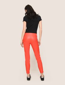 ARMANI EXCHANGE FAUX-LEATHER ZIP DETAIL LEGGING Pant Woman e
