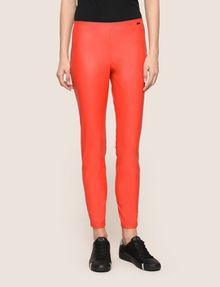 ARMANI EXCHANGE FAUX-LEATHER ZIP DETAIL LEGGING Pant Woman f