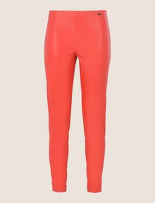 ARMANI EXCHANGE FAUX-LEATHER ZIP DETAIL LEGGING Pant Woman r