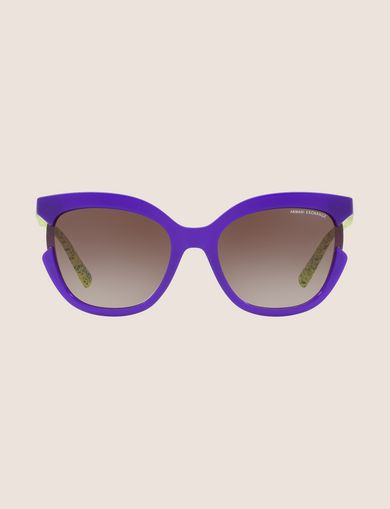 PURPLE CUTOUT CAT-EYE SUNGLASSES