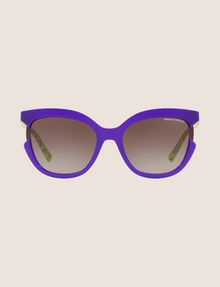 ARMANI EXCHANGE PURPLE CUTOUT CAT-EYE SUNGLASSES Sunglass Woman f