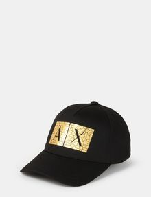ARMANI EXCHANGE TESSELLATED FOIL LOGO HAT Hat Man f