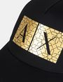 ARMANI EXCHANGE TESSELLATED FOIL LOGO HAT Hat Man d