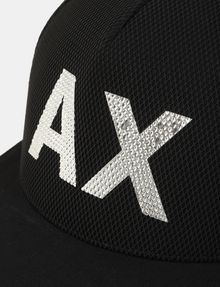 ARMANI EXCHANGE MESH REFLECTIVE LOGO HAT Hat Man d