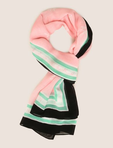 SCATTERED LOGO SQUARE SCARF