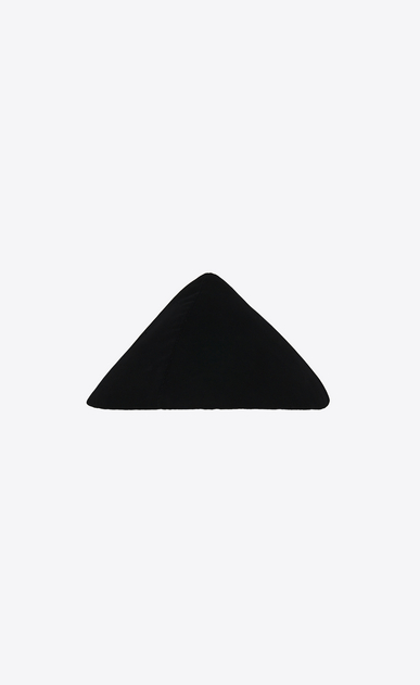 SAINT LAURENT Hats Woman Graphic hat in black velvet b_V4