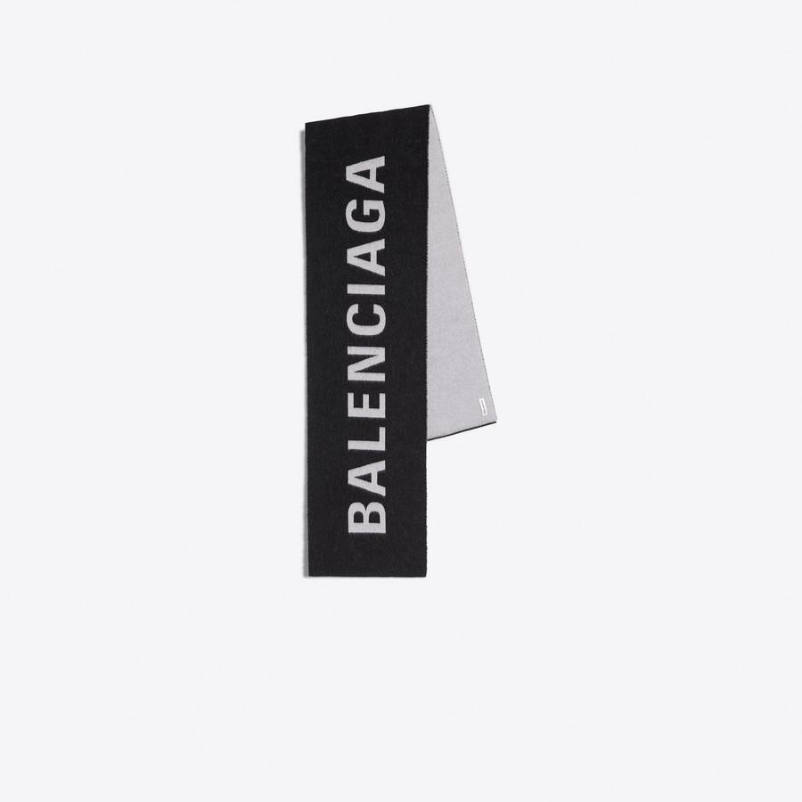 BALENCIAGA Sciarpa in jacquard con logo Foulard & Sciarpe D f