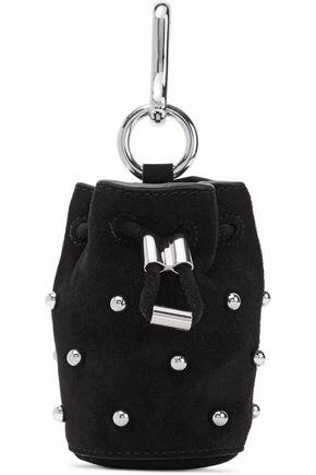ALEXANDER WANG Studded suede keychain