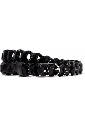 IRO Studded woven leather belt