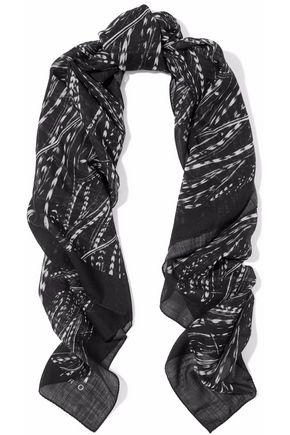 IRO Printed wool-gauze scarf