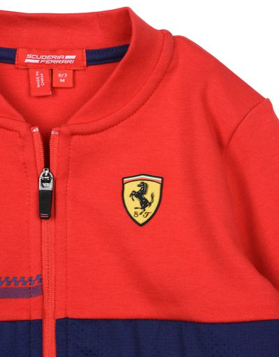 Scuderia Ferrari Online Store - Boys full zipper sweatshirt with Shield - Zip Sweaters