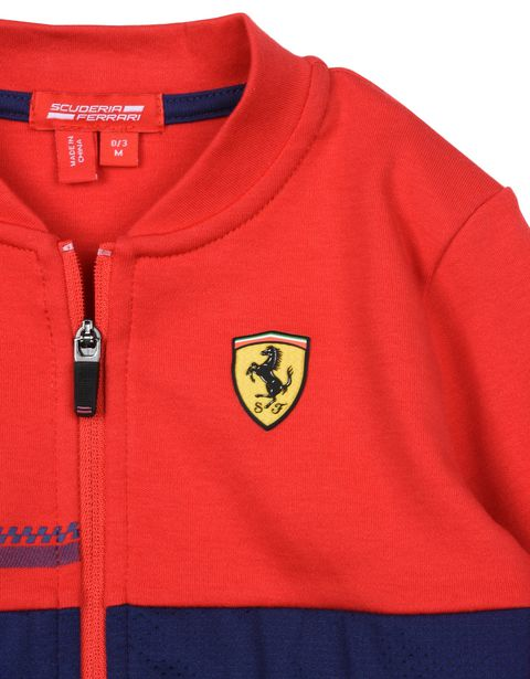 Scuderia Ferrari Online Store - Boys full zipper sweatshirt with Shield - Zip Sweaters