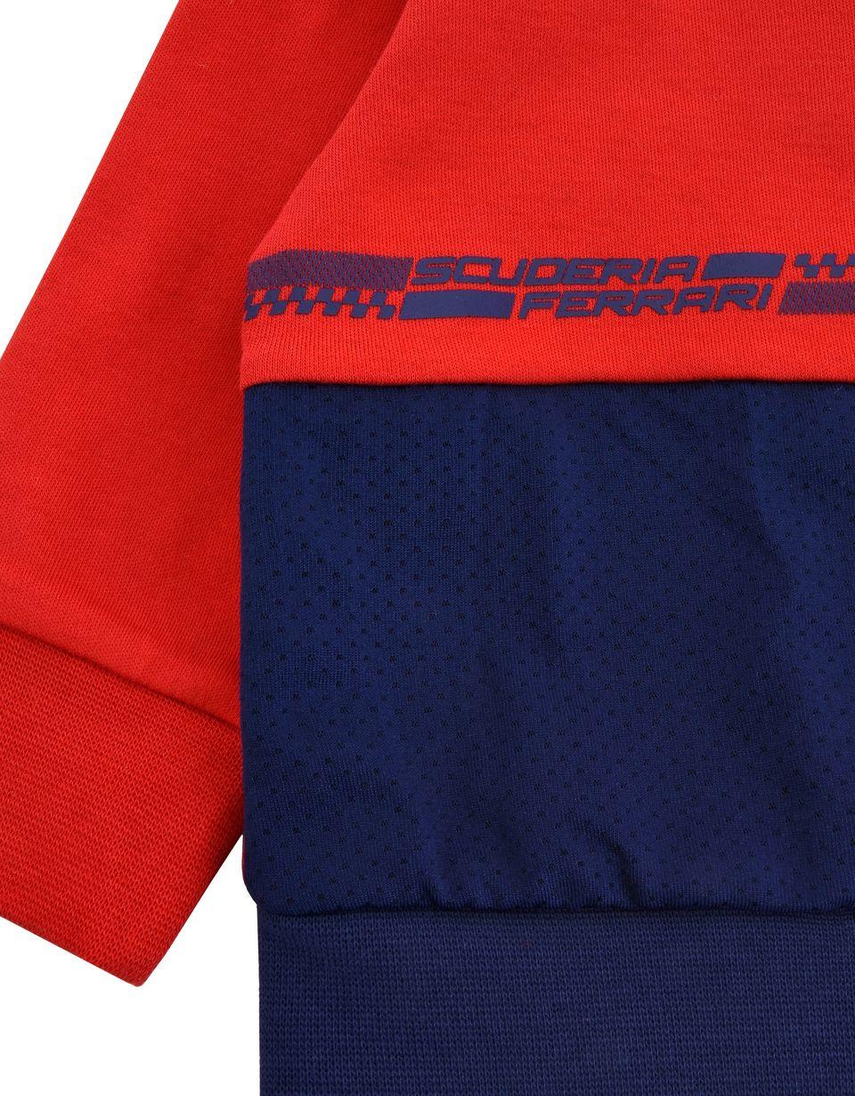 Scuderia Ferrari Online Store - Sweatjacke für Neugeborene mit durchgehendem Reißverschluss und Ferrari-Abzeichen - Pullover mit Reißverschluss