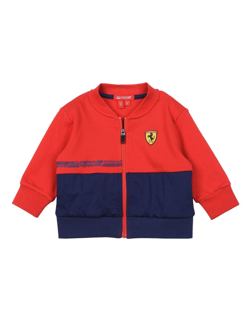 Scuderia Ferrari Online Store - Baby full zip sweatshirt with Shield - Zip Jumpers