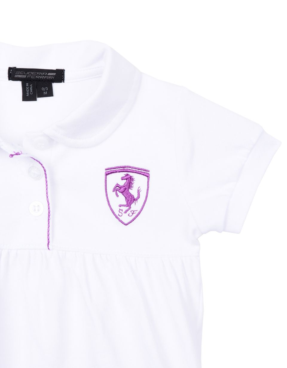 Scuderia Ferrari Online Store - Kurzärmeliges Poloshirt für Neugeborene - Kurzärmelige Poloshirts