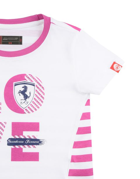 Scuderia Ferrari Online Store - T-shirt fille avec inscription « Love Scuderia Ferrari » - T-shirts à manches courtes