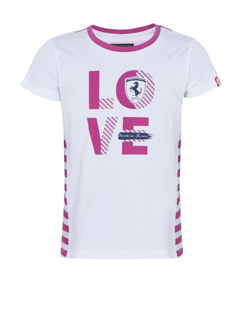 "T-shirt for girls with ""Love Scuderia Ferrari"""