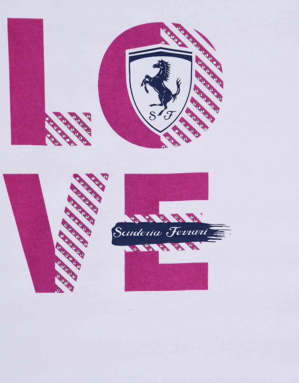 "Scuderia Ferrari Online Store - T-shirt for girls with ""Love Scuderia Ferrari"" - Short Sleeve T-Shirts"