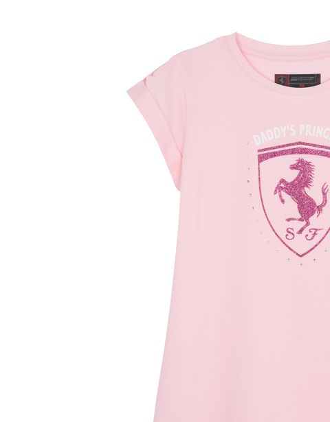 Scuderia Ferrari Online Store - Short-sleeve cotton dress for girls -