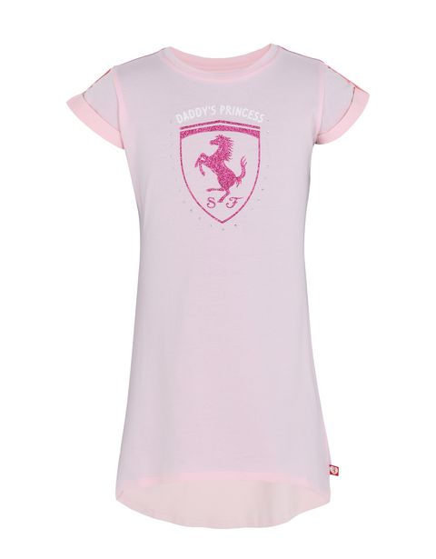 Short-sleeve cotton dress for girls