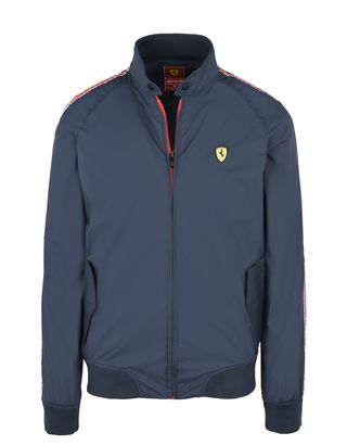 Scuderia Ferrari Online Store - Men's rain jacket with Scuderia Ferrari Icon Tape -