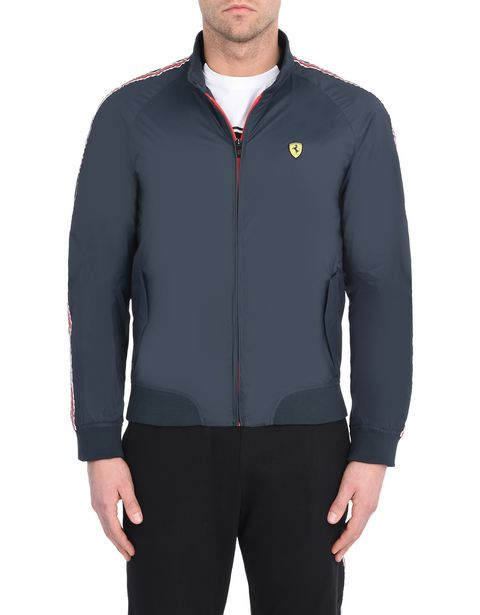 Men's rain jacket with Scuderia Ferrari Icon Tape